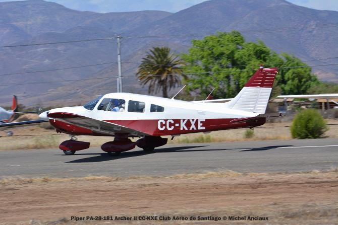DSC_0097 Piper PA-28-181 Archer II CC-KXE Club Aéreo de Santiago © Michel Anciaux