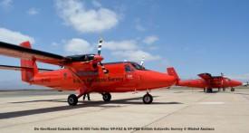 DSC_0115 De Havilland Canada DHC-6-300 Twin Otter VP-FAZ & VP-FBB British Antarctic Survey © Michel Anciaux
