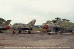 img1011 Mikoyan-Gourevitch Mig 21MF ''523'' & ''517''' Congo (Brazzaville) Air Force © Michel Anciaux
