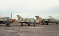 img1013 Mikoyan-Gourevitch Mig 21UM ''503'', Mig-21MF ''521'' &''507'' Congo (Brazzaville) Air Force © Michel Anciaux