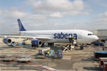 004 Airbus A340-313 OO-SCW SABENA © Michel Anciaux