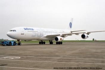 008 Airbus A340-211 F-GNIC (OO-SCX) SABENA © Michel Anciaux