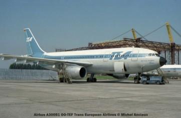 03 Airbus A300B1 OO-TEF Trans European Airlines © Michel Anciaux