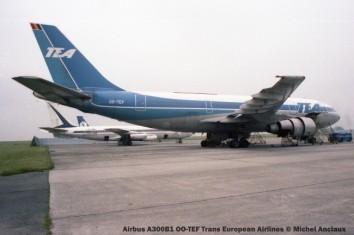 04 Airbus A300B1 OO-TEF Trans European Airlines © Michel Anciaux