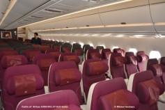 096 Cabin of Airbus A350-941 A7-ALD Qatar © Michel Anciaux