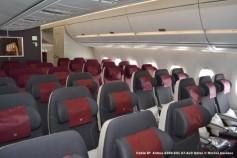 097 Cabin of Airbus A350-941 A7-ALD Qatar © Michel Anciaux
