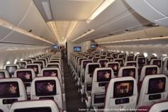 100 Cabin of Airbus A350-941 A7-ALD Qatar © Michel Anciaux