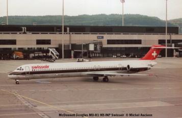 11 McDonnell Douglas MD-81 HB-INP Swissair © Michel Anciaux