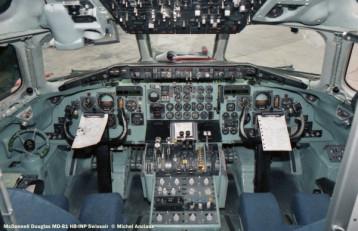 12 McDonnell Douglas MD-81 HB-INP Swissair © Michel Anciaux