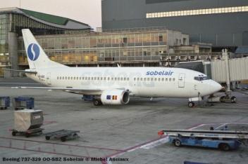 42 Boeing 737-329 OO-SBZ Sobelair © Michel Anciaux