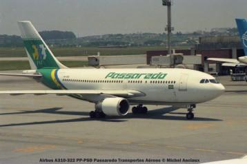43 Airbus A310-322 PP-PSD Passaredo Transportes Aéreos © Michel Anciaux