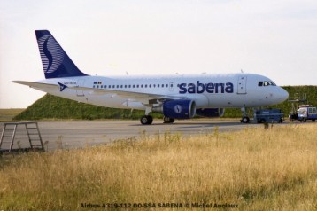 52 Airbus A319-112 OO-SSA SABENA © Michel Anciaux