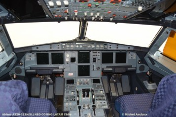 80 Cockpit of Airbus A320-271N (SL) NEO CC-BHG LATAM Chile © Michel Anciaux
