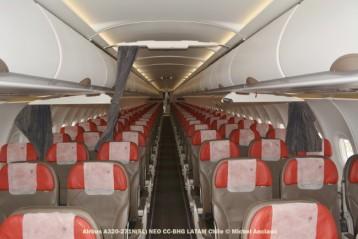 81 Cabin of Airbus A320-271N (SL) NEO CC-BHG © Michel Anciaux