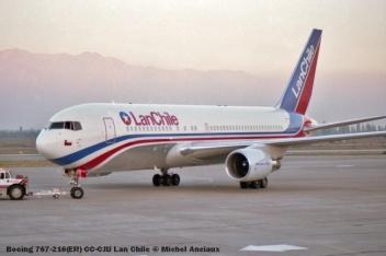 82 Boeing 767-216(ER) CC-CJU Lan Chile © Michel Anciaux