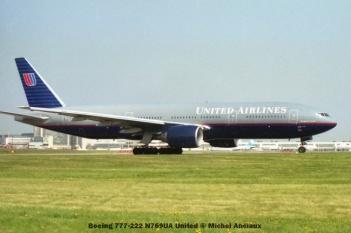 86 Boeing 777-222 N769UA United © Michel Anciaux