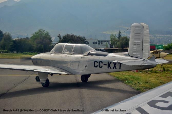 DSC_0084 Beech A-45 (T-34) Mentor CC-KXT Club Aéreo de Santiago © Michel Anciaux
