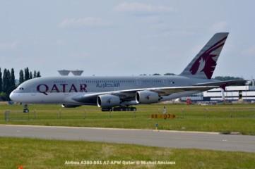 DSC_0114 A7-APW Airbus A380-861 Qatar © Michel Anciaux