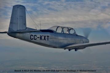 DSC_0164 Beech A-45 (T-34) Mentor CC-KXT Club Aéreo de Santiago © Michel Anciaux