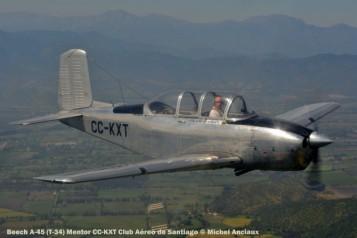 DSC_0177 Beech A-45 (T-34) Mentor CC-KXT Club Aéreo de Santiago © Michel Anciaux