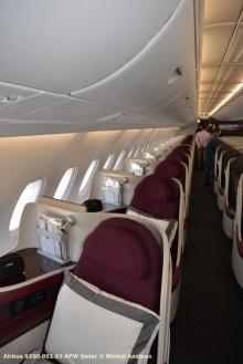 DSC_0334 Cabin of Airbus A380-861 A7-APW Qatar © Michel Anciaux