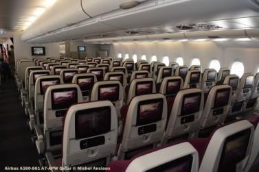 DSC_0355 Cabin of Airbus A380-861 A7-APW Qatar © Michel Anciaux