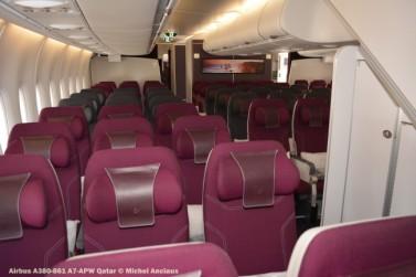 DSC_0363 Cabin of Airbus A380-861 A7-APW Qatar © Michel Anciaux