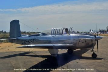 DSC_1015 Beech A-45 (T-34) Mentor CC-KST Club Aéreo de Santiago © Michel Anciaux