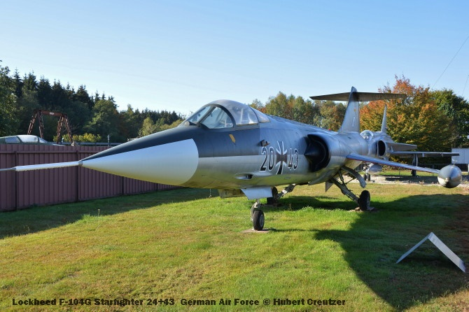 DSC_5629 Lockheed F-104G Starfighter 24+43 German Air Force © Hubert Creutzer
