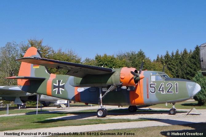 DSC_5931 Hunting Percival P.66 PembrokeC.Mk.54 54+21 German Air Force © Hubert Creutzer