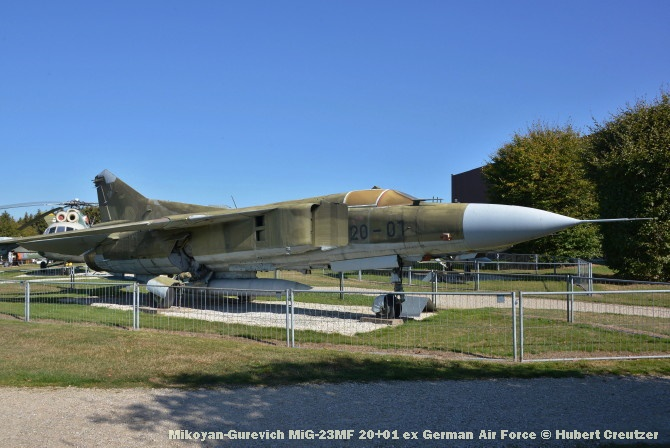 DSC_6028 Mikoyan-Gurevich MiG-23MF 20+01 ex German Air Force © Hubert Creutzer