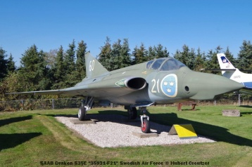 DSC_6075 SAAB Draken S35E ''35931-F21'' Swedish Air Force © Hubert Creutzer