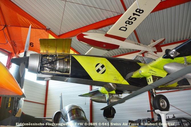 DSC_6159 Eidgenössische Flugzeugwerke F+W C-3605 C-541 Swiss Air Force © Hubert Creutzer