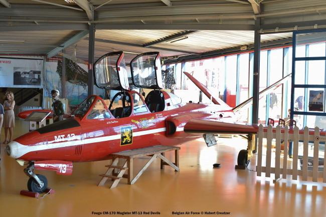 DSC_8126 Fouga CM-170 Magister MT-13 Red Devils colours Belgian Air Force © Hubert Creutzer