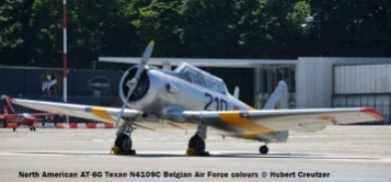 DSC_8179 North American AT-6G Texan N4109C Belgian Air Force colours © Hubert Creutzer