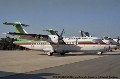 img1174 ATR 42-312 N92BN ex Zambia Airways © Michel Anciaux