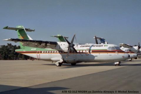 img1174 ATR 42-312 N92BN ex Zambia Airways © Michel Anciaux