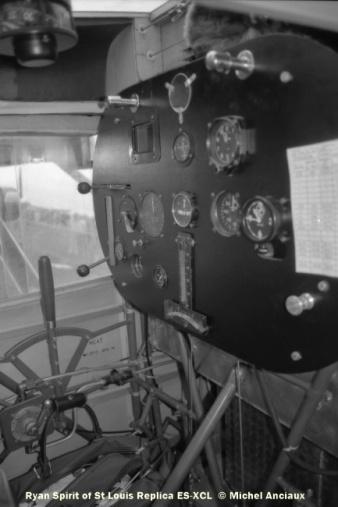 img201 Cockpit of Ryan Spirit of St Louis Replica ES-XCL © Michel Anciaux