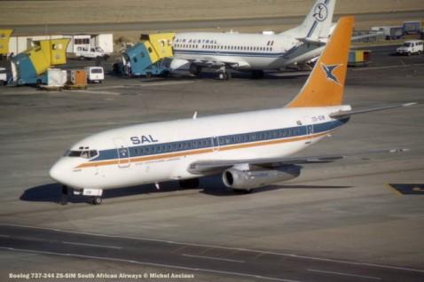 img805 Boeing 737-244 ZS-SIM South African Airways © Michel Anciaux