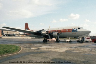 img816 Douglas DC-6B OO-IFA International Freight Airways © Michel Anciaux