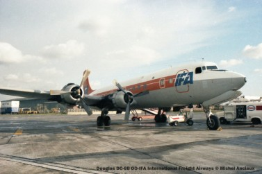 img817 Douglas DC-6B OO-IFA International Freight Airways © Michel Anciaux
