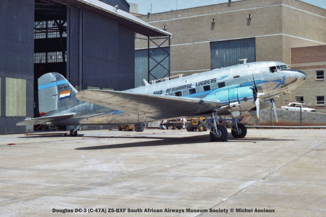 img825 Douglas DC-3 (C-47A) ZS-BXF South African Airways Museum Society © Michel Anciaux