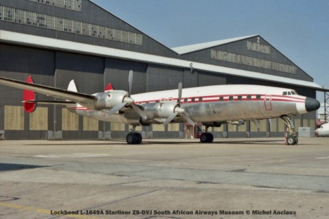 img841 Lockheed L-1649A Starliner ZS-DVJ South African Airways Museum © Michel Anciaux