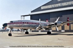 img843 Lockheed L-1649A Starliner ZS-DVJ South African Airways Museum © Michel Anciaux