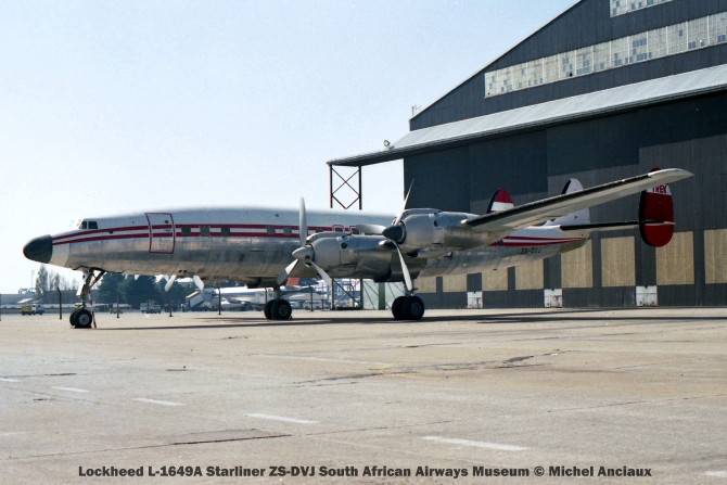img844 Lockheed L-1649A Starliner ZS-DVJ South African Airways Museum © Michel Anciaux