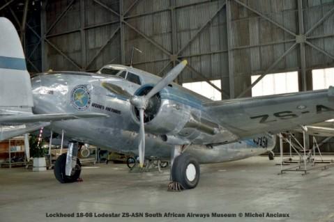 img846 Lockheed 18-08 Lodestar ZS-ASN South African Airways Museum © Michel Anciaux