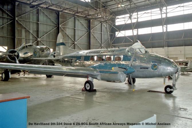 img850 De Havilland DH-104 Dove 6 ZS-BCC South African Airways Museum © Michel Anciaux