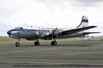 008 Douglas DC-4-1009 ZS-BMH South African Airways Historic Flight © Michel Anciaux