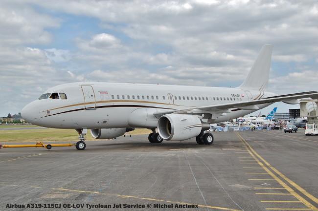 913 Airbus A319-115CJ OE-LOV Tyrolean Jet Service © Michel Anciaux