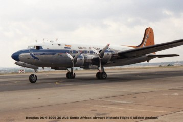 img1454 Douglas DC-4-1009 ZS-AUB South African Airways Historic Flight © Michel Anciaux